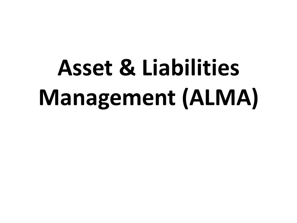 training Asset & Liability Management (ALMA)