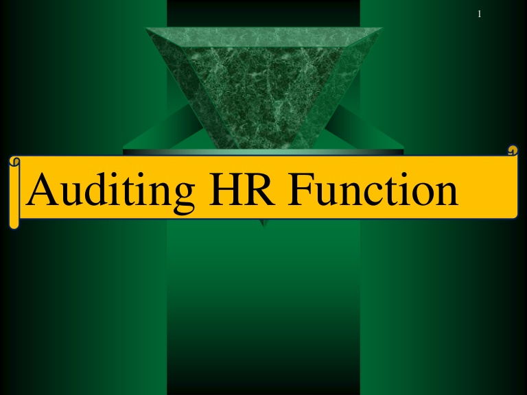 pelatihan Auditing the HR Function