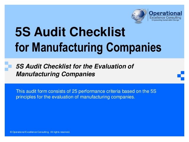 training Auditing the Manufacturing Process