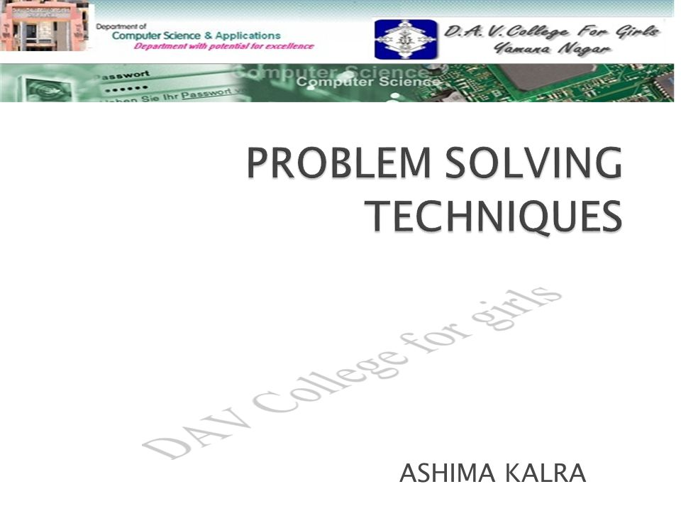 Basic Problem Solving Techniques