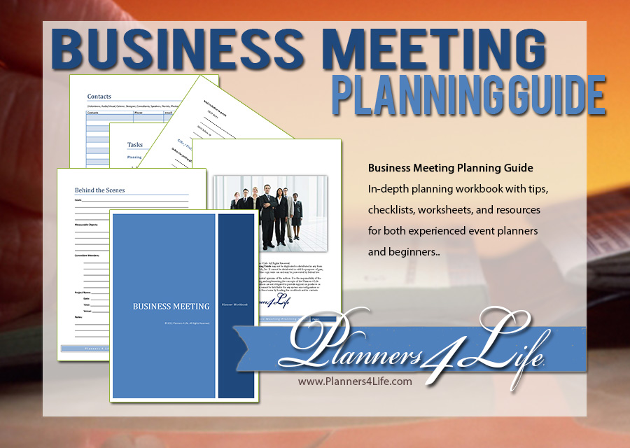 training Business Meeting Planning & Management
