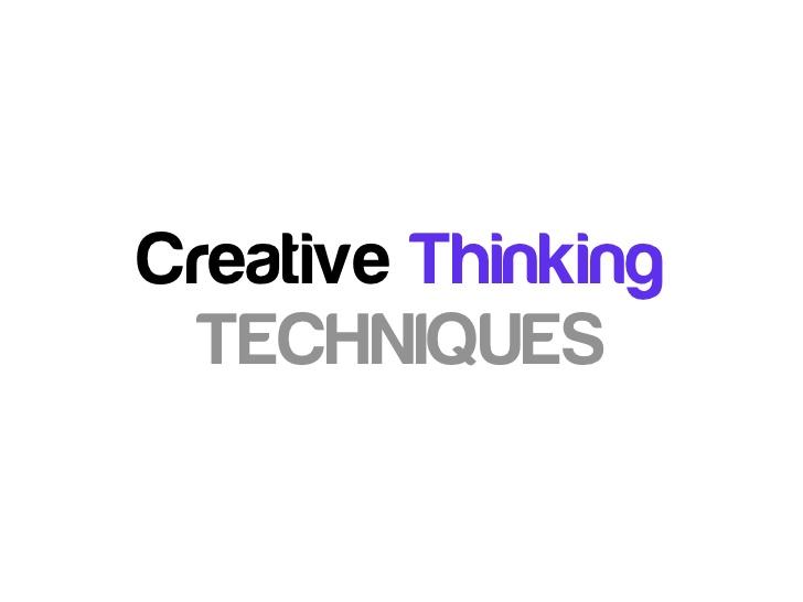 pelatihan Creative Thinking Technique