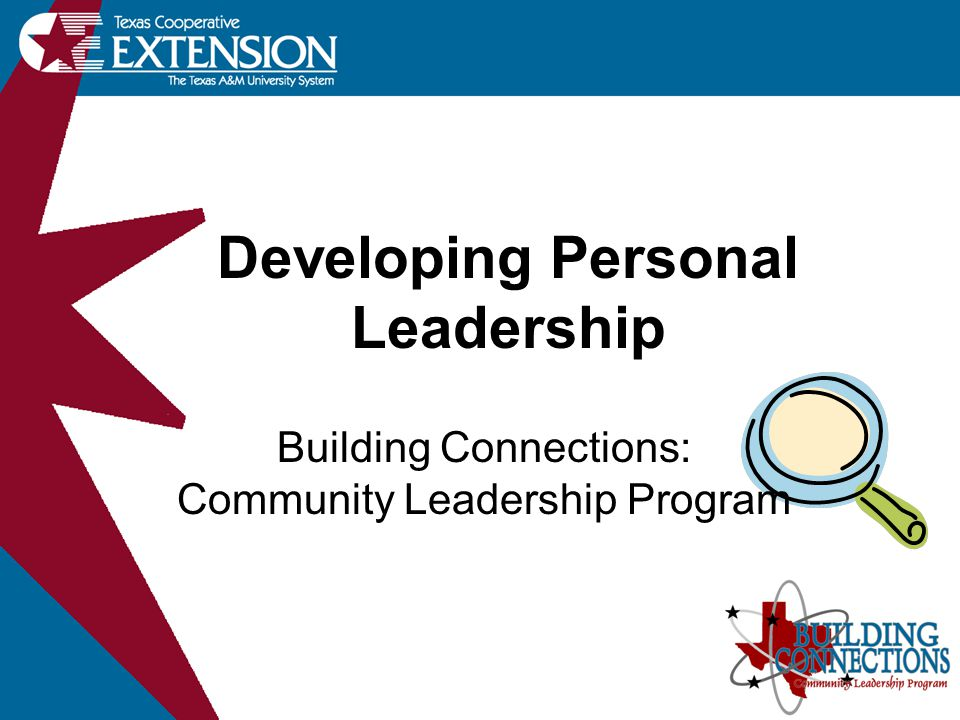 seminar Developing Personal Leadership