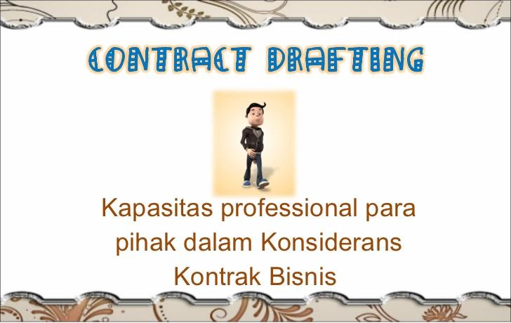 seminar Drafting dan Negosiasi Kontrak Komersial