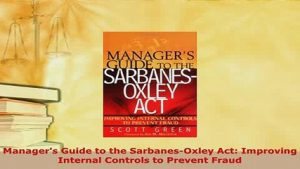 seminar Managers Guide to Improving Internal Control: Sarbox Approach