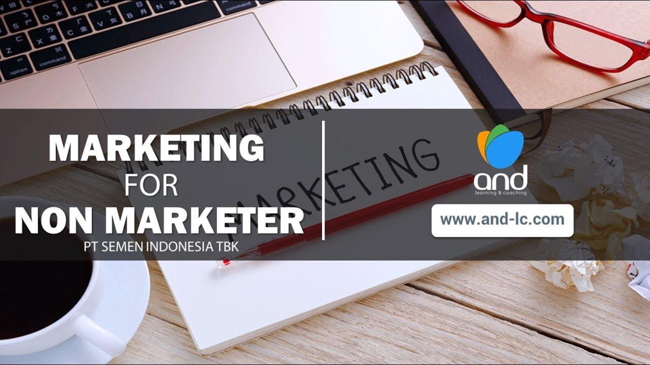 pelatihan Marketing for Non Marketer